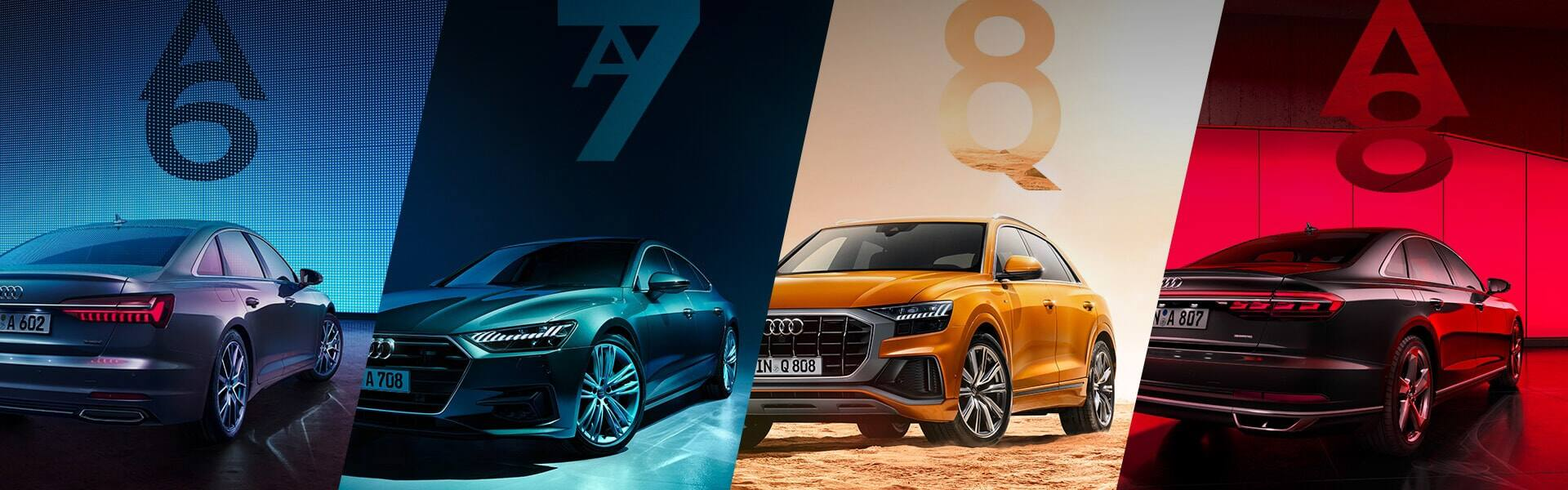 The all-new A6, A7, A8 and first ever Q8.
