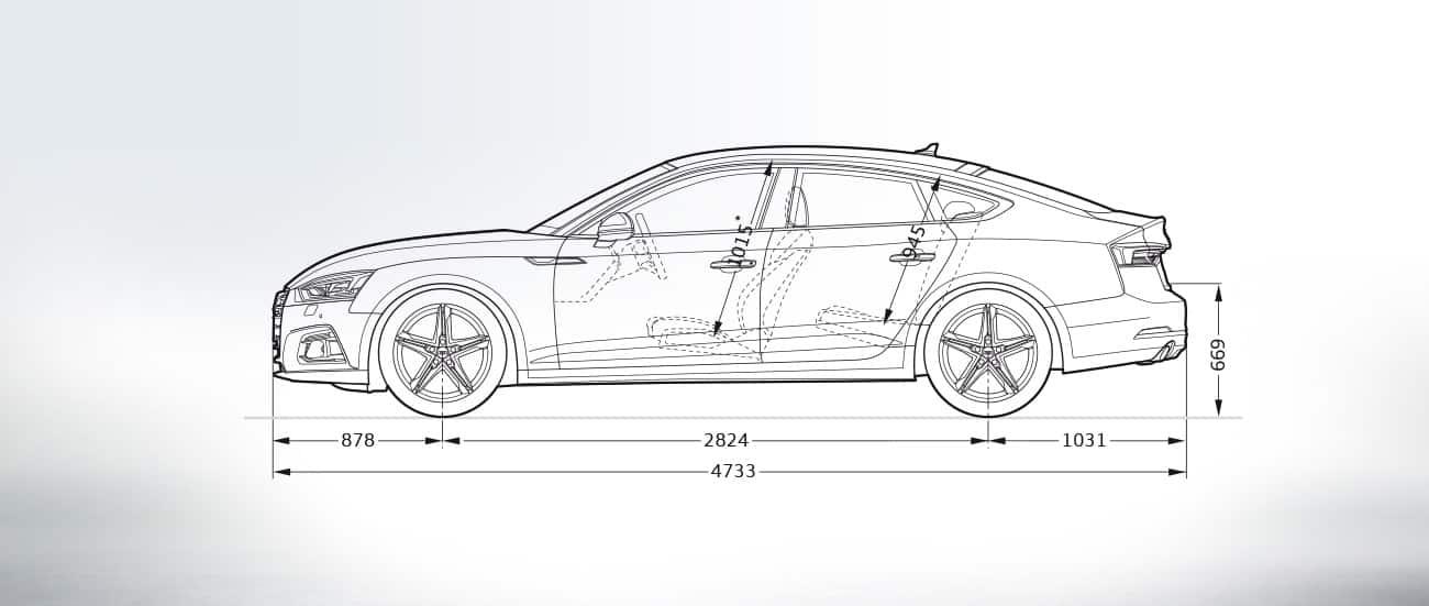 Audi R8 Price Canada >> Layer: Dimensions > 2019 A5 Sportback > A5 > Audi Canada