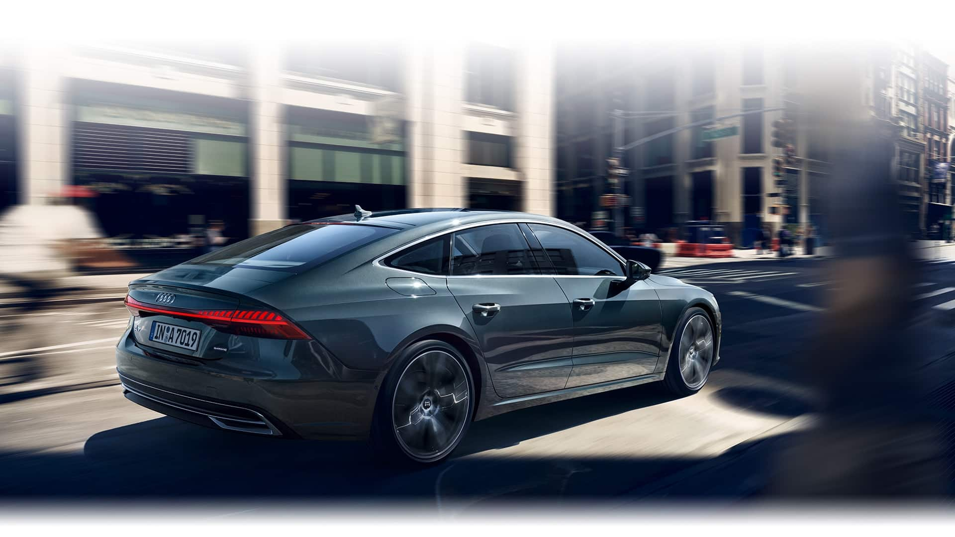 of the new full size face sporty class audi sportback