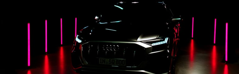Darkened view of the Audi SQ8.